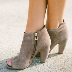 Suede Open Toe Sandal Booties
