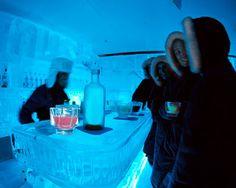 Minus 5 Bar, Ice lounge, ice glasses, a fur coat and vodka!  Las Vegas
