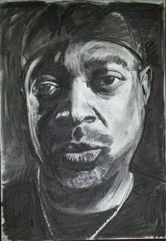 Chuck D of Public Enemy, in vine charcoal | hip hop art selected by BruteBeats.com Your Real Hip Hop Station | #hiphop #brutebeats #beats