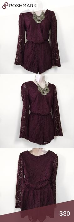 Burgundy Wine Red Romper This romper new without tags. Perfect for the summer and spring with heels or sandals. Armpit to armpit: 17 in./ Length: 29-31 in. ❗️BUNDLE FOR DISCOUNTS❗️ Mimi Chica Pants Jumpsuits & Rompers