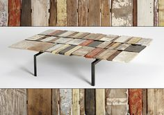 Rustic table made from scrap wood