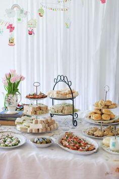 Afternoon Tea Baby Shower Sandwiches