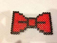 Perler bead bow tie by Keri Tichenor