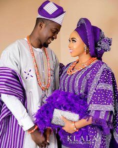 Yoruba Traditional Wedding Attire Styles [Updated May Nigerian Wedding Dresses Traditional, Traditional Wedding Attire, African Traditional Dresses, Traditional Outfits, African Fashion Dresses, African Dress, Nigerian Bride, Nigerian Weddings, African Weddings
