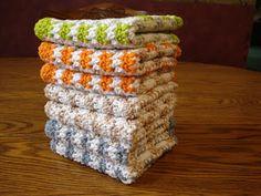 The Creative Home: Crochet Cotton Dish Cloths