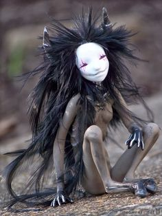 Mijbil Creatures: Artisans, faun doll, fantasy forest creature, edition #2: creepily awesome!