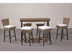 Napa Seven Piece Wicker Pub Set.  I'd love to have this in the backyard, what a great set of barstools and a great pub table.  Perfect for a garden area.