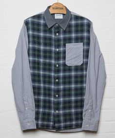 Wood Wood The Crescent Shirt Blue Check — The Great Divide