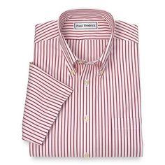 Non-Iron Cotton Stripe Button Down Collar Short Sleeve Dress Shirt Summer 2016 Trends, Smart Styles, Button Down Collar, 2 Ply, Business Attire, Dress Shirt, Dress Outfits, Menswear, Iron