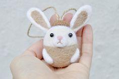00007 (noristudio3o) Tags: christmas rabbit bunny animal felted woodland felting handmade nursery ornament acorn needle kawaii etsy amigurumi needlefelt amigurumis etsyseller