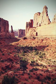 """Park Avenue"" in the amazing Arches National Park."