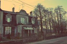 Pabianice, Poland. Old house. Winter
