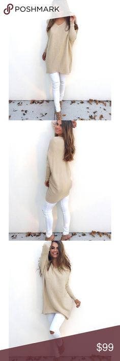 Coming soon! Adorable cream comfy sweater, coming soon!   Like for price drop notification! That's when you know it has arrived! Sweaters