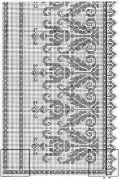 Victoria - Handmade Creations: Spitzenvilla in einem . Cross Stitch Geometric, Cross Stitch Borders, Cross Stitch Flowers, Cross Stitch Designs, Cross Stitch Patterns, Crochet Patterns Filet, Loom Patterns, Crochet Stitches, Embroidery Patterns