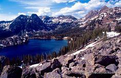 American Lakes Colorado | Gilpin Lake, Mount Zirkel Wilderness, Colorado, USA. Stock Photo
