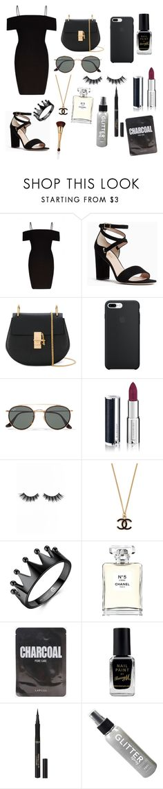 """""""Untitled #65"""" by fevzi-mete ❤ liked on Polyvore featuring River Island, Kate Spade, Chloé, Ray-Ban, Givenchy, Violet Voss, Chanel, Barry M, L'Oréal Paris and tarte"""
