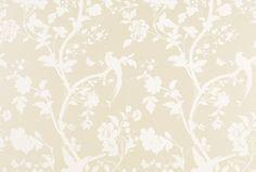 Oriental Garden Linen Floral Wallpaper