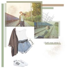 Jung Hoseok // BTS by rebekahsalvadore on Polyvore featuring Monki and adidas