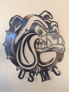 US Marine Corp USMC Bulldog Metal Wall Art Decor