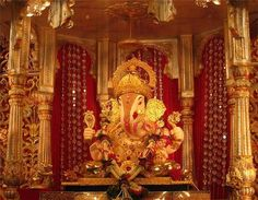 Dagadusheth Halwai Ganapati Temple, Pune, most popular Ganpati in India is dedicated to the Hindu God Ganesh. The temple is popular in Maharashtra and is visited by thousands of pilgrims every year.  http://ijiya.com/8235585