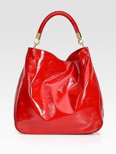 #YSL Large Patent Leather Roady Hobo