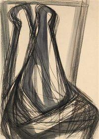 Abstrakte Linienformation von Karl Hartung