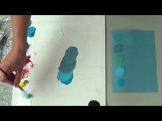 Cómo mezclar e igualar colores y tonos. Curso de pintura. Círculo cromát...