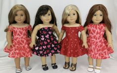 American Girl Doll Clothes by Rocio Girl Doll Clothes, Boy Doll, Girl Dolls, Doll Clothes Patterns, Doll Patterns, Clothing Patterns, Valentines Day Dresses, Next Dresses, Our Generation Dolls