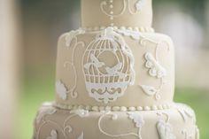 Ivory Bird Cage Wedding Cake Nashville Sweets