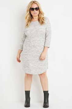 Plus Size Marled Sweatshirt Dress
