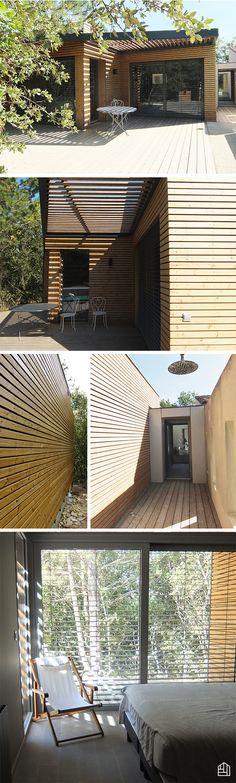 Extension de 50 m² avec du bardage claire-voie en thermopin #maisonbois