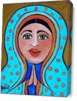 Aqua Madonna As Canvas