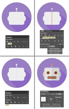 Hi, I am Yulia Sokolova, illustrator and graphic designer. In this tutorial I will guide you through the process of creating four flat style robot icons in Adobe Illustrator. We will be covering many different shortcut keys and operations, including Pathfinder and Blending Modes. Also, I'll show you techniques on how to create effects such as long …