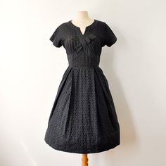 50s Cotton Eyelet Party Dress now featured on Fab.