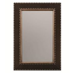 Huntington Mirror with Leather-Wrapped Frame and Nailhead Trim by Bernhardt at Belfort Furniture