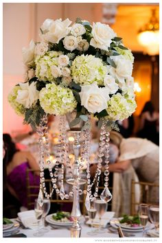 Bourne Mansion Wedding Centerpiece