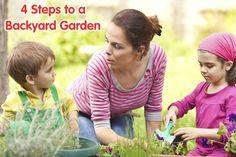 4 Steps to a Backyard Garden @produceforkids