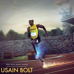 USAIN BOLT Still Invincible! #usainbolt #olympics #9gag @9gagmobile #lol #F4F #instafollow