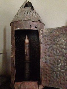 Early punched tin lantern * ebay.