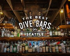 Best Dive Bars in Seattle Taxidermy, morning happy hours, and free darts. Seattle Vacation, Seattle Travel, Moving To Seattle, Seattle Sights, Vacation Ideas, Seattle Neighborhoods, Seattle Restaurants, Seattle Bars, Seattle Food