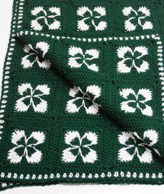 Crochet Shamrock Afghan