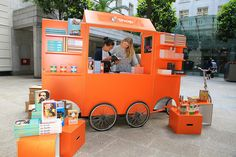 The Penguin Pop-Up Shop by Penguin Books UK - love the orange!