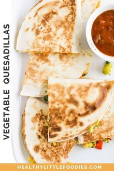 These colourful Vegetable Quesadillas are a great way to expose your children to a range of vegetables. Loaded with vegetables and cheese they are a family-friendly lunch or dinner option. Mix and match the vegetables with what you have available or to suit taste.