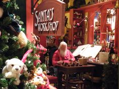 Santa's workshop - Yankee Candle flagship store in Deerfield, Ma.