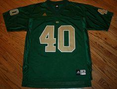 Notre Dame Fightin Irish #40 Green Adidas Football Jersey Men's Medium New #adidas #NotreDame