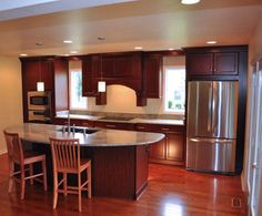One Wall Kitchen  Garageapartment Plan  Pinterest  Kitchens Entrancing 2 Wall Kitchen Designs Design Inspiration