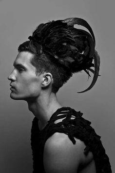 weird male fashion - hair