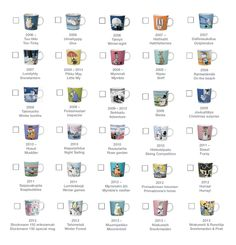 Moomin Mugs 2006-2013 Moomin Mugs, Geek Cave, Little My, Marimekko, Finland, Geek Stuff, Pottery, Adventure, Roots