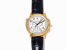 L. Leroy Gold Chronograph, Schweiz, um 2000 L. Leroy Gold ChronographSchweiz, um 2000Automatikwerk,