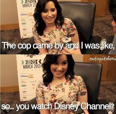 Demi trying to get out of a ticket :)